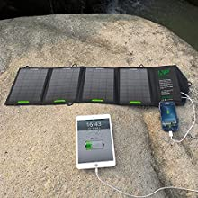 ALLPOWERS™ 16W Solar Panel Charger with iSolar™ Technology for Cell Phone, iphone 6 plus 5s 5, ipad Air Mini, Samsung Galaxy Note 4 3 2, and Other Smartphones and Tablets