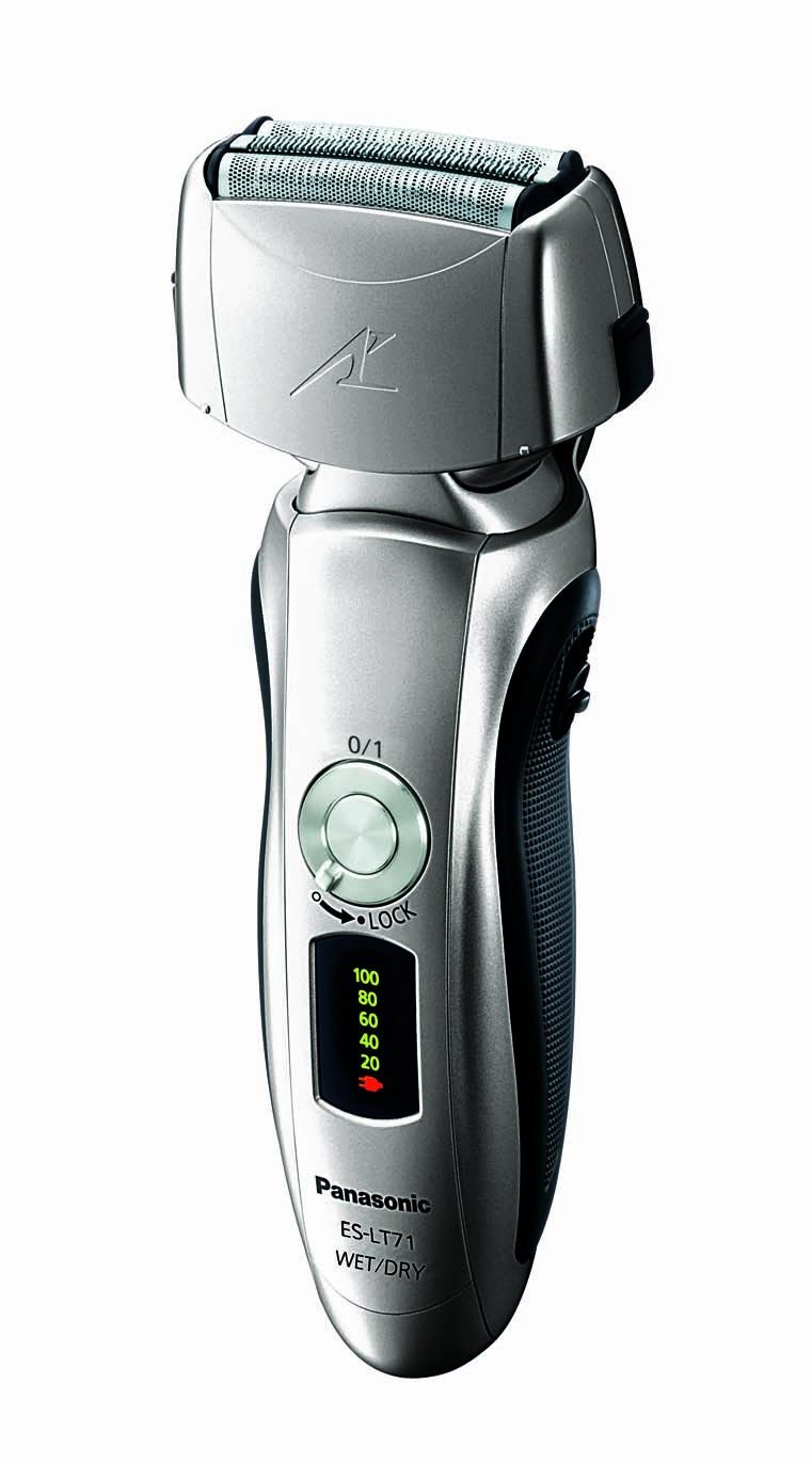 Panasonic ES-LT71-S Men's 3-Blade(Arc 3) Wet/Dry Nanotech Rechargeable Electric Shaver with Vortex Cleaning System