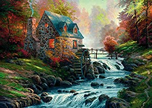 Exclusive Thomas Kinkade Jigsaw Puzzle by Schmidt - Cobblestone Mill - (1000 pieces)