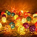 5cm Rattan Ball Fairy Lights - Ideal Wedding, Christmas & Party String Lights