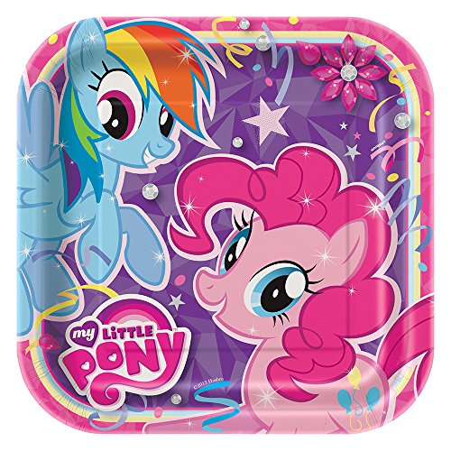 Unique Square My Little Pony Dinner Plates (8 Count)