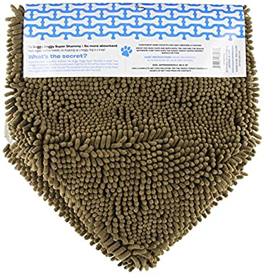 Soggy Doggy Super Shammy Super Absorbent Dog Towel, Dark Chocolate