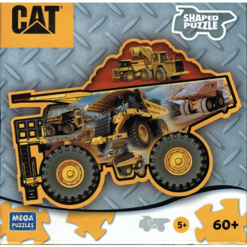 Mega Cat Construction Vehicle 60 Piece Puzzle Styles Vary - 1