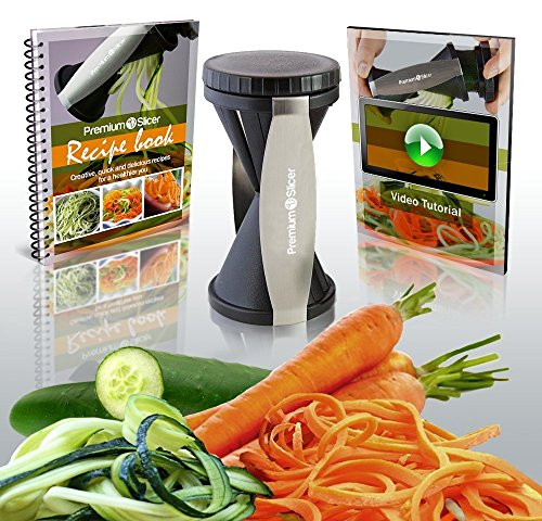 HOT SALE TODAY! – Premium Spiralizer eBundle – Vegetable Spiral Slicer – BONUS Recipe eBook & Beginners eVideo (Delivered to your e mail) – Perfect For Low Carb, Raw Food, Gluten Free and Paleo Diets – As Seen On TV!