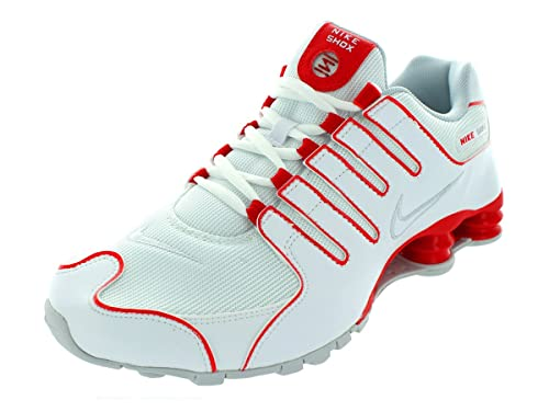 nike shox white and red