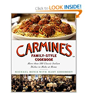 Click to buy Italian Cookbook: Carmine's Family-Style Cookbook from Amazon!