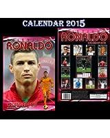 Cristiano Ronaldo Calendrier 2015 + cristiano ronaldo aimant de réfrigérateur