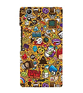 EPICCASE blood and sweat Mobile Back Case Cover For Micromax Canvas Selfie Lens Q345 (Designer Case)
