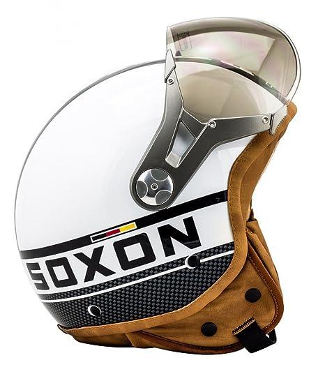 SOXON SP-325 blanc casque JET moto Cruiser Pilot - Taille: XS S M L XL