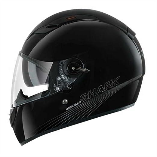 SHARK - Casque moto VISION-R BLANK - Taille : L - Couleur : Noir metal