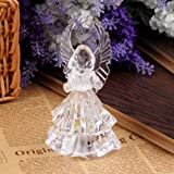 TOOGOO(R) 7 Colors Changing Crystal LED Christmas Angel Decoration Night Light Lamp Gift