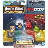 Angry Birds Star Wars Telepods Rebels vs. Villains 6 Pack - Jabba The Hutt, Tusken Raider, Han Solo (In Carbonite), Lando Calrissian, Wicket W. Warrick, Royal Guard