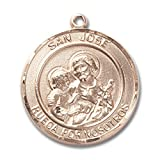 Bonyak Jewelry Custom Engraved 14kt Yellow Gold San Jose Medal 3/4 x 5/8 inches (Color: Gold/Yellow)