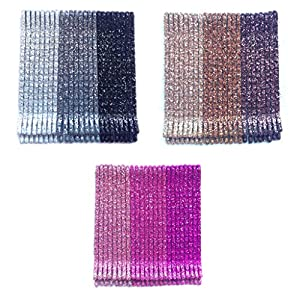 iOna Beauty Essentials Hair Accessories Glitter Bobby Bob Pin Clips Grip Hairpins HP3SET2 Girls 24