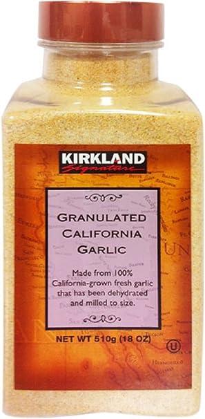 Kirkland Signature Granulated California Garlic, 18 Ounce