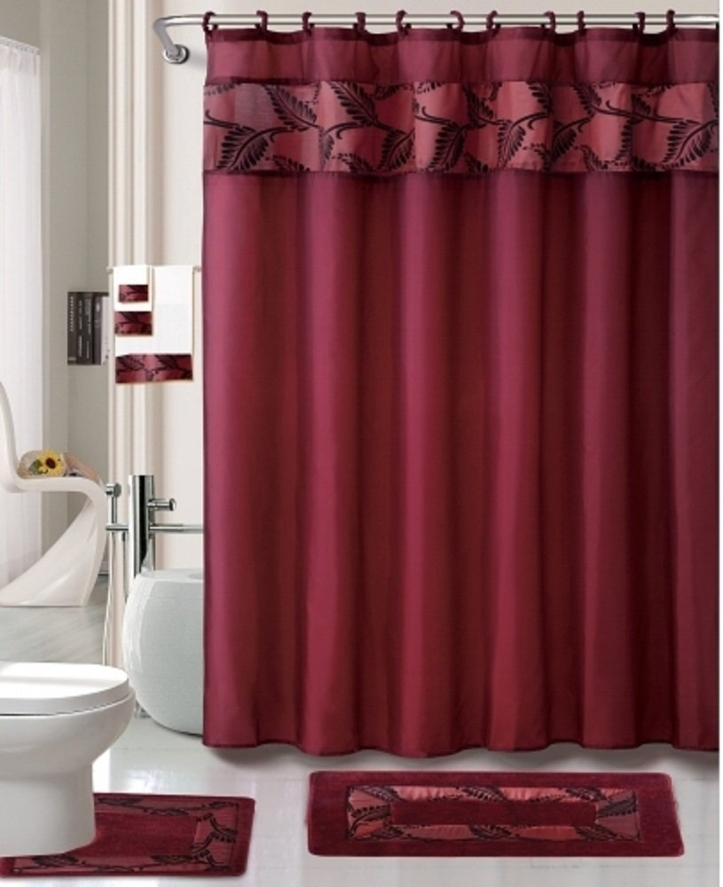 Short Tab Top Curtains Valance Shower Curtain Sets