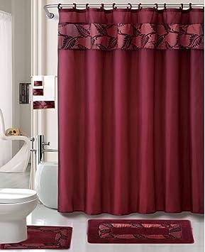 Styles 2014 Burgundy Shower Curtain