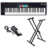 Novation Launchkey 61 Key USB MIDI Controller with Knox Keyboard Stand and Sustain Pedal