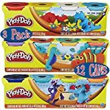 Play-Doh 4-Pack of Colors 20oz Gift Set Bundle (12 Cans & 60oz Total) - 3 Pack