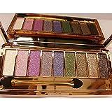 FINEJO Women 9 Colors Waterproof Makeup Glitter Eyeshadow Palette with Brush 1