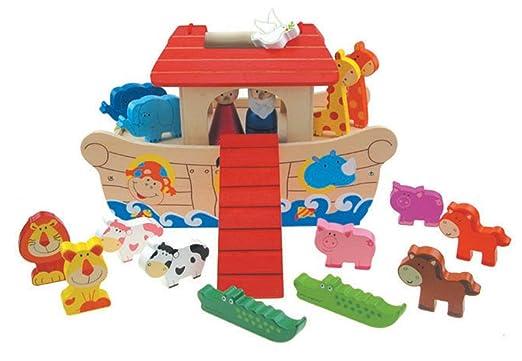 Inware 22786 - L'arche de Noé, en bois, Set à jouer