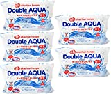 Super Double AQUA(ダブルアクア) たっぷりの水で洗い流すおしりふき 55枚×5個 厚手タイプ