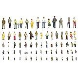 alignmentpai 100Pcs 1:100 Building Layout Painted Model People Figures for Miniature Scene Decor 1:100 (Tamaño: 1:100)
