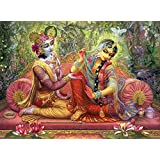 Tallenge - Lord Krishna And Radha- A3 Size Rolled Poster
