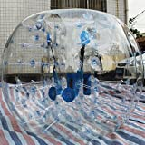 1.5M 5ft Human Knocker ball inflatable Bumper Bubble soccer Zorb Ball for Adult (Transparent, 1.5M)