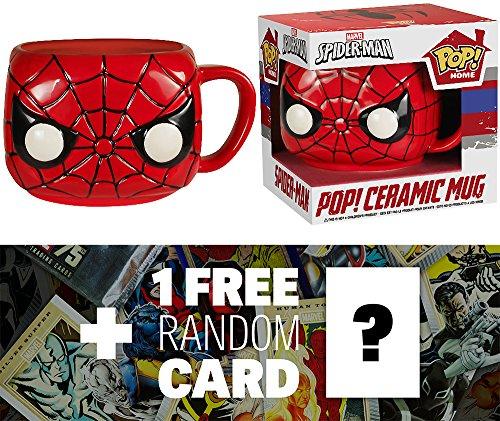 Spider-Man: 12 oz. Funko POP! Home x Marvel Universe Mug + 1 FREE Official Marvel Trading Card Bundle (57473)