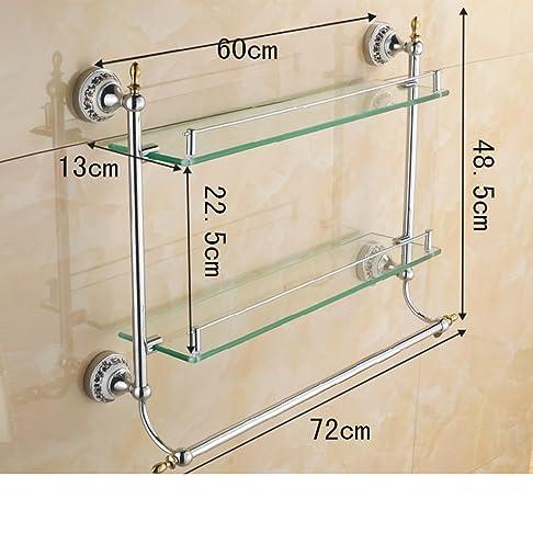 Bagno mensola in vetro bagno/Cosmetici/Bagno asciugamani-T