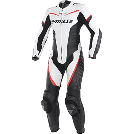 Dainese 2513423_I96_44 TRacing P Lady, Blanc/Noir/Fluo-Rouge, Taille : 44