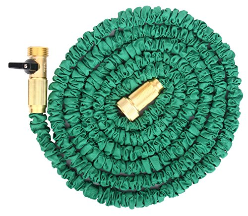 Brass connectors expandable garden hose by gardeniar for Best flexible garden hose