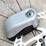 Disc Brake Lock Alarm Sound and Pin Anti-Theft Motorcycle Motorbike with Reminder Cable (Gray) (Color: Gray)