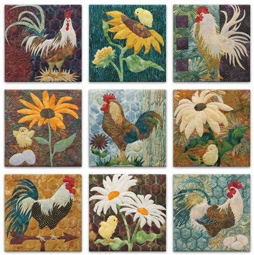 McKenna Ryan Pine Needles All Cooped Up Rooster Quilting Patterns