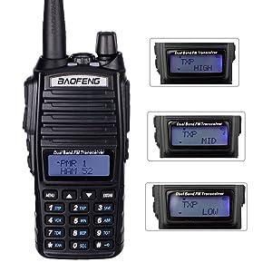 BaoFeng UV-82 MK5 8W High Power 2019 Two Way Amateur (Ham) Radio Walkie Talkie, Mirkit edition (Color: BLACK)