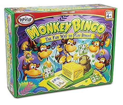 Monkeys Playing Bingo Monkey Bingo Card Game