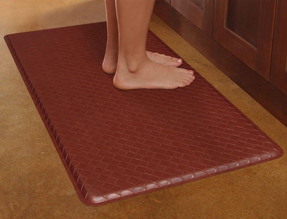 Gelpro basketweave comfort floor mat 20 inch by 36 inch for Hardwood floors hurt feet