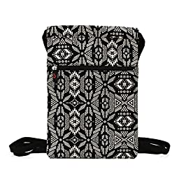 RCA 10 Pro Edition Gym Sack bag for Tablets Under 11 inches | Black & White Tribal Patern
