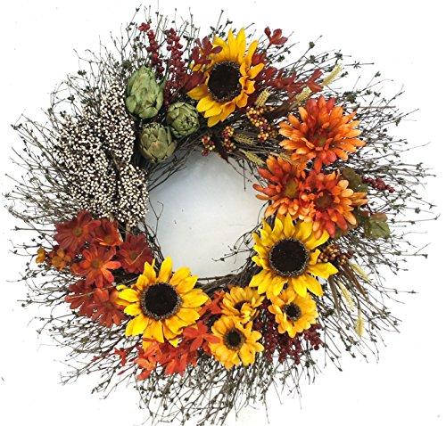 Sunflower Medley  Wreath