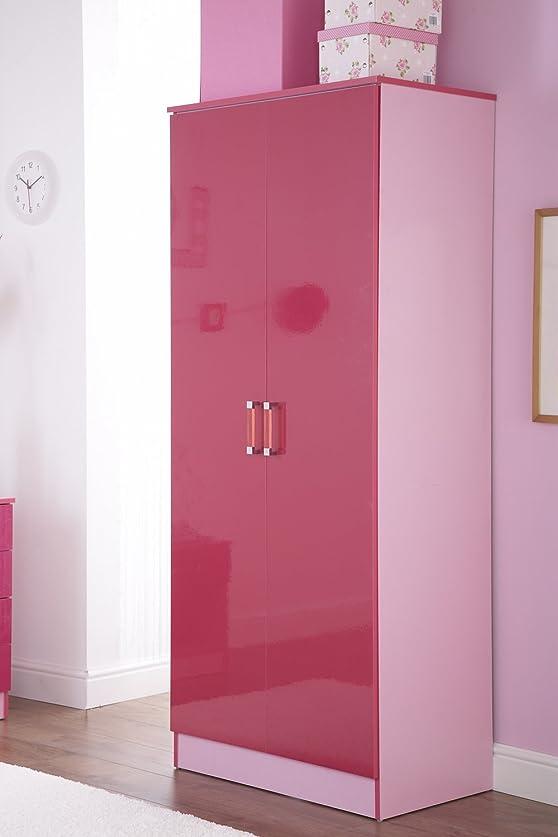 2porta armadio doppio in due tonalità rosa lucido