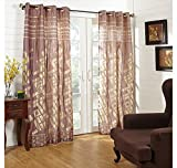 @home by Nilkamal 44'x84' Bricks Door Curtain, Multi