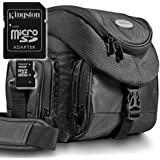 Kit Mantona Premium System Tasche schwarz + Speicherkarte Kingston Micro SDHC 16GB Class 10 (mit Adapter) !