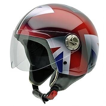 NZI 490004G332 3D Vintage II Union Jack Casque de Moto, Blanc/Bleu/Rouge/Détail Drapeau Britannique, Taille : L