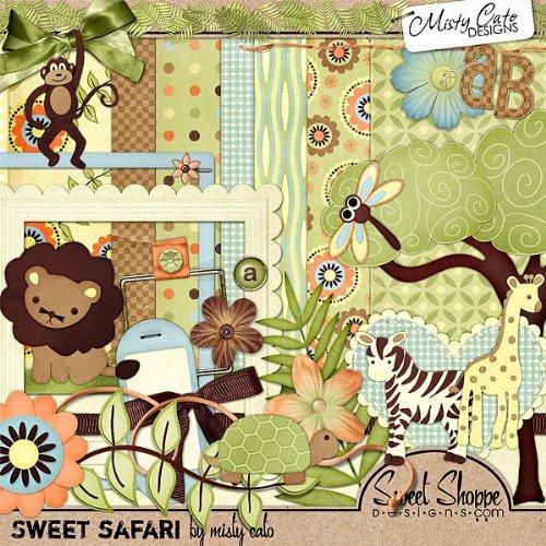 Amazon.com: Digital Scrapbooking Kit: Sweet Safari by Misty Cato
