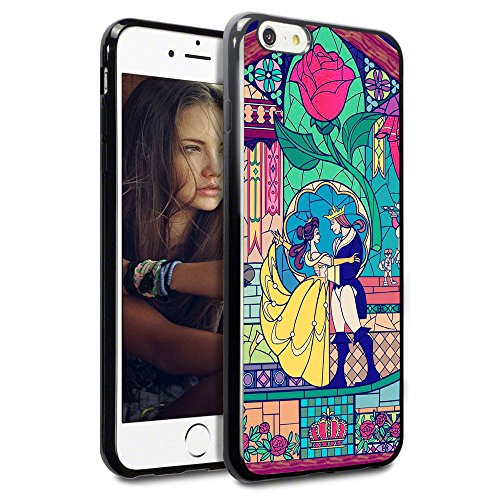 "Onelee - Disney Beauty and The Beast TPU Case for iPhone 6 / 6S 4.7"" - Black 2"