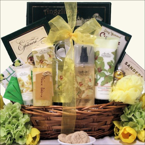 Greatarrivals Gift Baskets Vanilla Orchid Spa Luxuries Bath And Body Spa Gift Basket