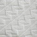 Mantita para bebé (100 % algodón orgánico) blanco roto blanco