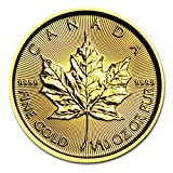 2016年製 メイプル金貨 1/10オンス カナダ王室造幣局発行 3.11gの純金 メイプルリーフ ゴールド コイン 24金 保証書付き
