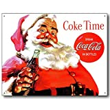 Nostalgic Coca Cola Tin Sign : Christmas Santa